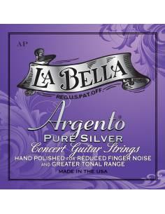 Cordes guitare classique Labella Argento AP polies à la main