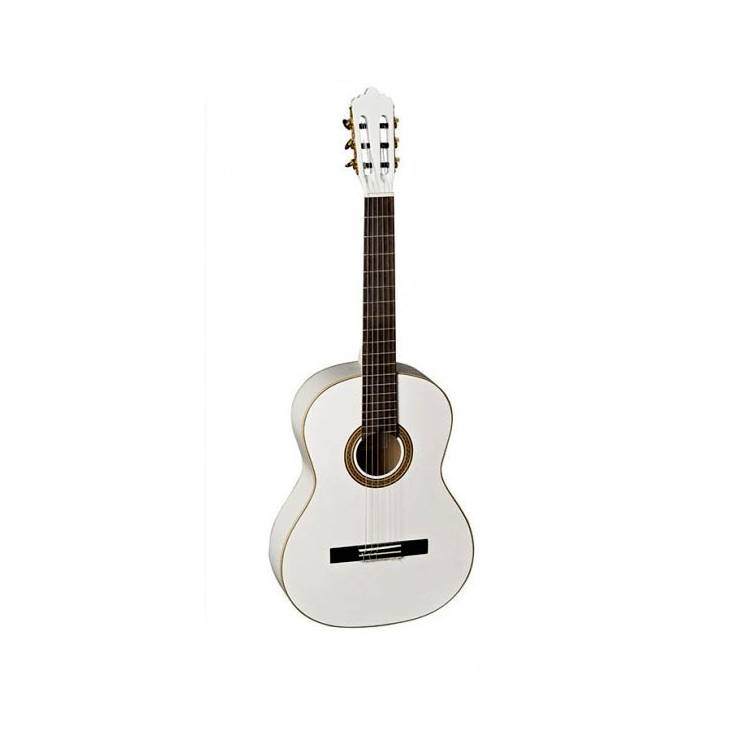 guitare la mancha white glacial metallic