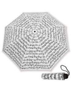 Parapluie blanc motif notes de musique
