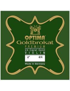 corde violon Mi Optima Goldbrokat Premium 24K Gold