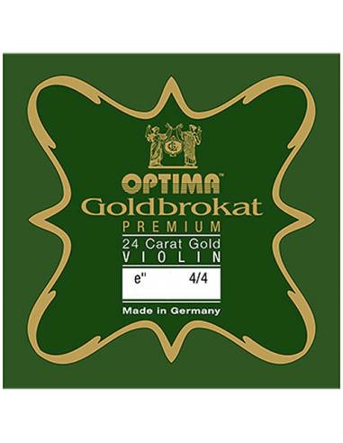 corde violon Mi Optima Goldbrokat Premium 24K Gold