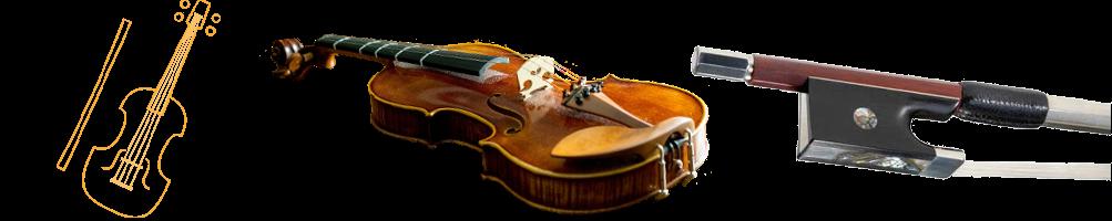 Violon, accordeurs, archets, cordes, colophane et accessoires | Pizz&Arco